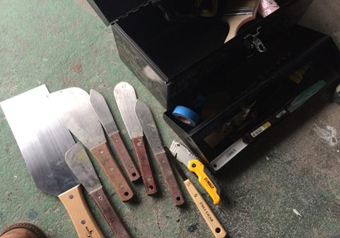 塗装職人の道具について